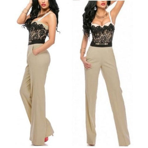 Sweetheart Lace Top Trendy Jumpsuit