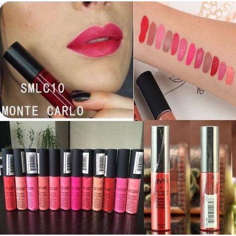 Cosmetics Soft Matte Lip Cream Liquid Gloss Lipsticks Long Lasting