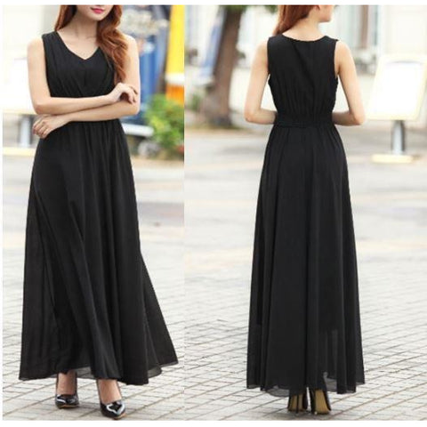 Long Dress Bohemian Slim Sleeveless Dress