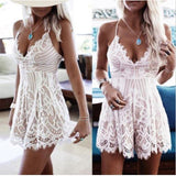 Deep V Neck Casual Sleeveless Party Evening Cocktail Lace Short Romper