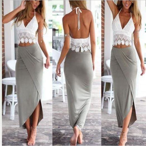 Women Boho Summer Beach Long Maxi Evening Party Cocktail Dress Sundress