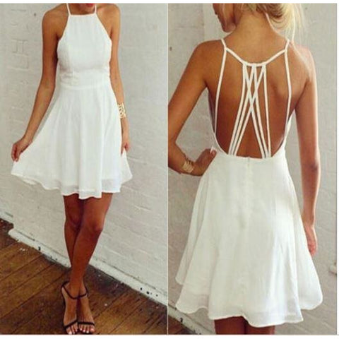New Women Holiday Boho Loose Swing Sundress Summer Beach Casual Party Mini Dress