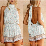 Boho Styles Halter Blackless Playsuit