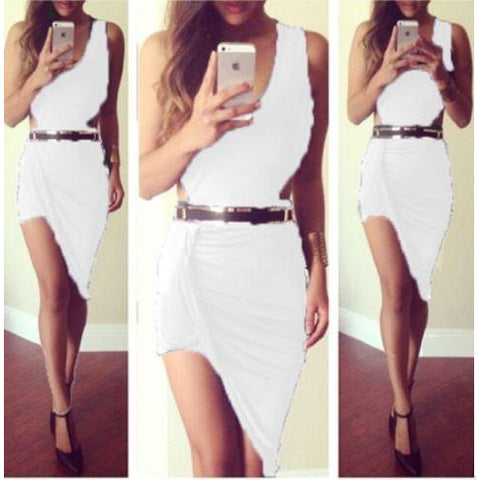 New Women Sexy Summer Bandage Bodycon Party Cocktail Mini Dress