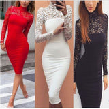 Lace Bandage Bodycon Evening Party Cocktail Mini Dress