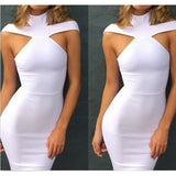 Women's Bandage Bodycon Sleeveless Evening Party Cocktail Dress