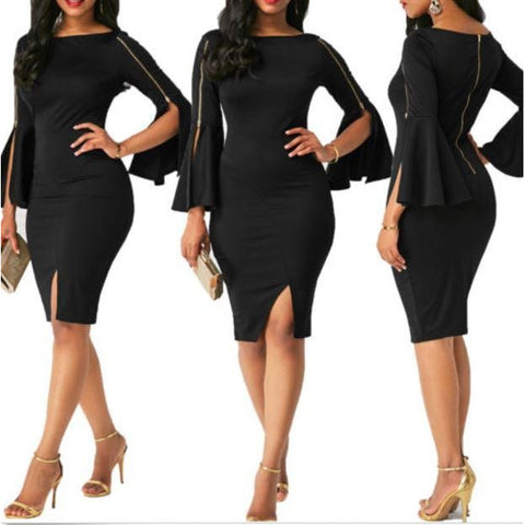 Bandage Bodycon Long Sleeve Club Evening Party Short Mini Dress