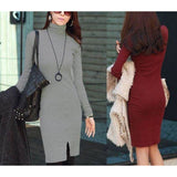 Long Sleeve Pullover Sweater Dress