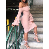 Off Shoulder Bandage Bodycon Evening Cocktail Party Mini Short Dress