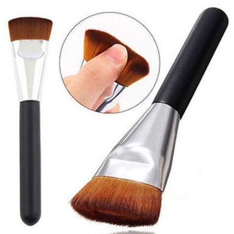 Professional Flat Head Makeup Cosmetic Blush Contour Foundation Brush Tool