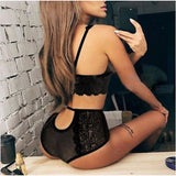 Dress Sets Sheer Lace Floral Underwear &  Bra Tops
