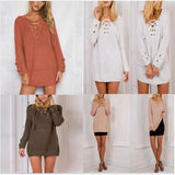 Long Sleeve Knitted Pullover Loose Sweater Jumper Tops Knitwear