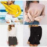 Casual Long Sleeve Knitted Pullover Loose Sweater Jumper Tops Knitwear