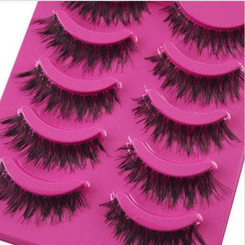 5 Pairs False Eyelashes Extensions Natural Thick Long Fake Eyelashes Makeup Tool