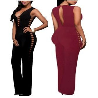String Hollow Out Sexy Nightclub Jumpsuit