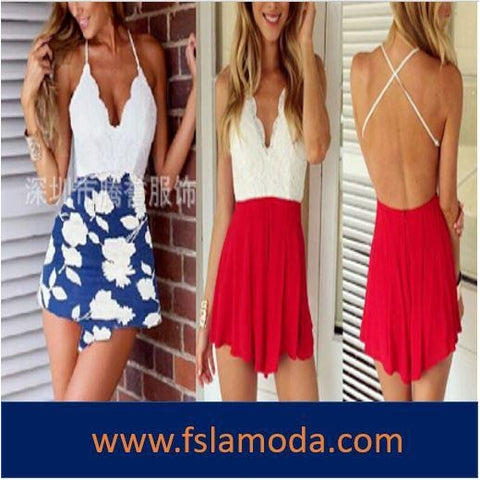 Summer V Neck Holiday Mini Romper Beach Shorts Dress
