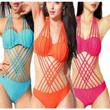 One Piece Monokini Swimsuit Push Up Bikini