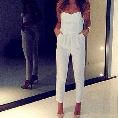 Summer White Off The Shoulder Jumpsuit