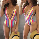 One Piece Push-up Unpadded Bikini Swimsuit