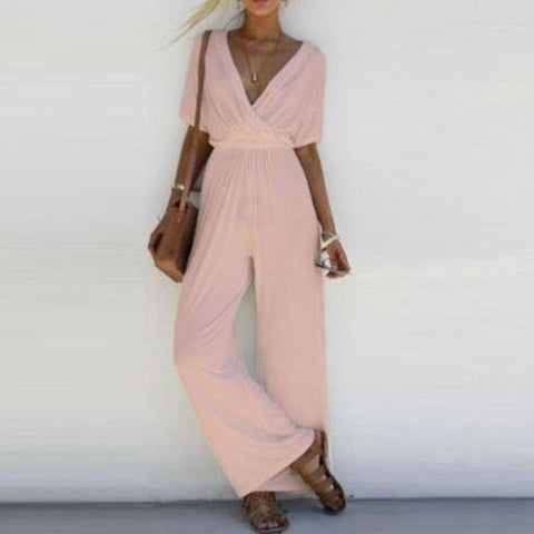 Summer Women Casual Crop Top Long Pants - Piece Set Trousers