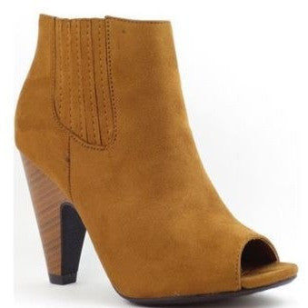 Stacked Chunky Heel Boot