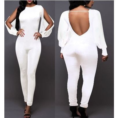 Sexy White Formal Evening Jumpsuits