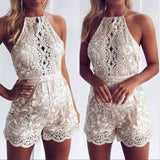 Women Sequins Deep V-Neck Short Party Clubwear Bodycon Short Romper Jumpsuit