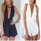 Sexy Ladies Clubwear V Neck Bodycon Party Jumpsuit/Romper