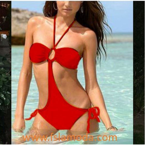 Red or Black Sexy Bikini Set Bandage Swimwear