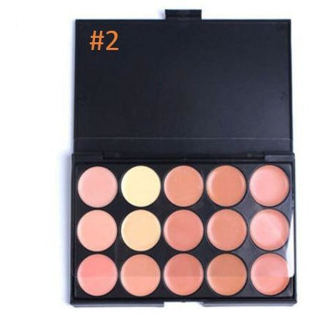 15 Colors Concealer Palette Kit Face Makeup Contour Cream