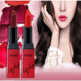NOVO Matte Lips Makeup Pigment Long Lasting Red Nude Velvet Waterproof Lipsticks