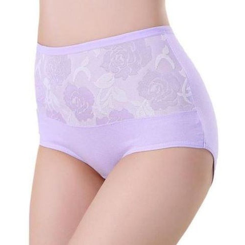 High Waist Underwear Sexy Cotton Lady Briefs Healthy Panties