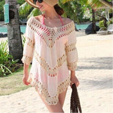 Lady Sexy Lace Crochet Sleeveless Swimwear Bikini Cover Up