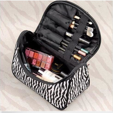 Beauty Accessories Toiletry Bag Zebra Travel Storage bag Makeup Handbag