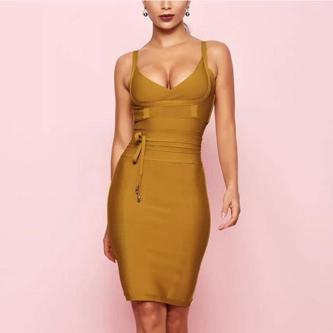 Summer Bandage Spaghetti Strap Dress