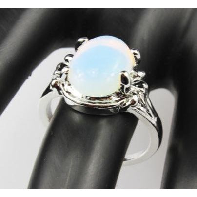 Opal Gemstone Silver Plated Ring