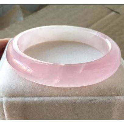 Genuine Natural Rose Quartz Madagascar Bangle Bracelet