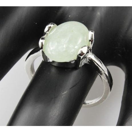 Green Aventurine  925 Silver Plated Ring