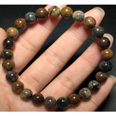 Natural Pietersite Namibia Gemstone Round Beads Bracelet