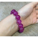 NATURE PURPLE JADE BRACELET GREEN HAND CATENARY