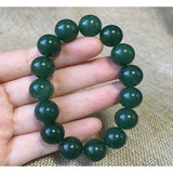 NATURE GREEN JADE BRACELET GREEN HAND CATENARY