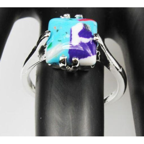 Malachite Gemstone 925 Silver Plated Ring
