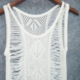 Long Crochet Swimsuit Cover-Up
