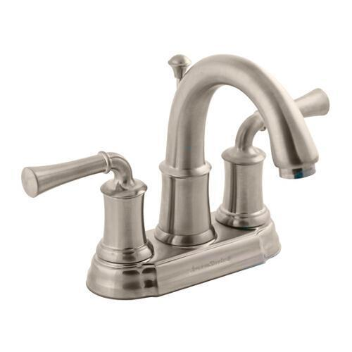 "American Standard bathroom sink faucet Brushed Nickel American Standard ""Portsmouth"" 4'' Centerset Bathroom Sink Faucet"