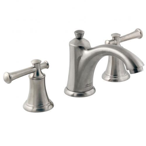"American Standard bathroom sink faucet Brushed Nickel American Standard ""Portsmouth"" 8'' Widespread Bathroom Sink Faucet"