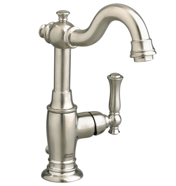 "American Standard bathroom sink faucet Brushed Nickel American Standard  ""Quentin"" Single Hole Bathroom Sink Faucet"
