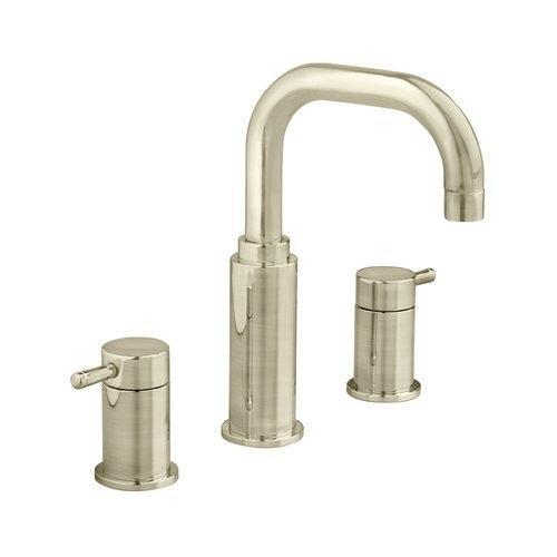 "American Standard bathroom sink faucet Brushed Nickel American Standard ""Serin"" 8'' Widespread Bathroom Sink Faucet"