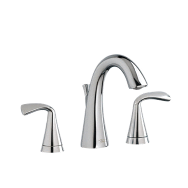 "American Standard bathroom sink faucet Chrome American Standard ""Fluent"" Two-Handle Widespread Bathroom Faucet"