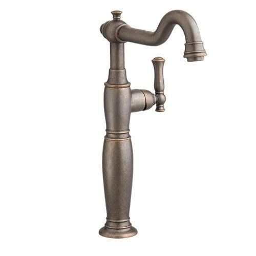 "American Standard bathroom sink faucet Oil Rubbed Bronze American Standard ""Quentin"" Vessel Filler Bathroom Sink Faucet"