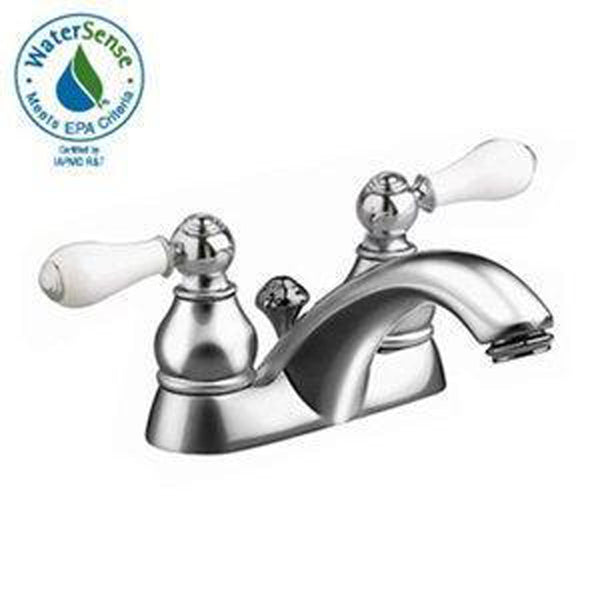 "American Standard Bathroom Sink Faucet Polished Chrome American Standard ""Hampton"" 4'' Centerset Bathroom Sink Faucet"